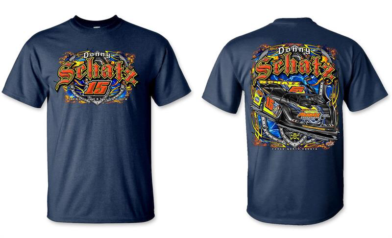 donny schatz, apparel, late model, t-shirt